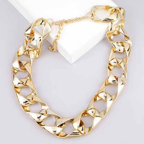 hip-hop style thick chain necklace  NHJE289169's discount tags