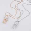 Fashion Alloy Diamond Basketball Frame Necklace  NHJE289174