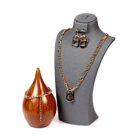 New pig nose earrings punk hip-hop thick chain necklace jewelry set NHPY289199's discount tags