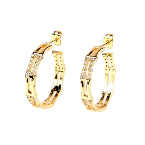 retro C-shaped bamboo big earrings NHPY289213's discount tags