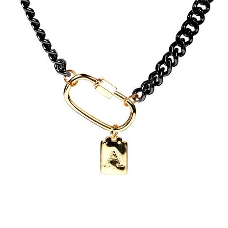 Collar con colgante de 26 letras NHPY289215's discount tags