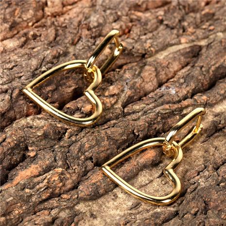 verkupferte 14K hohle herzförmige Ohrringe NHPY289223's discount tags
