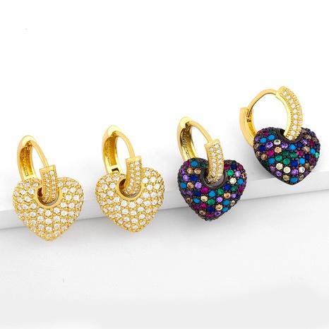 simple diamond heart earrings  NHAS289231's discount tags