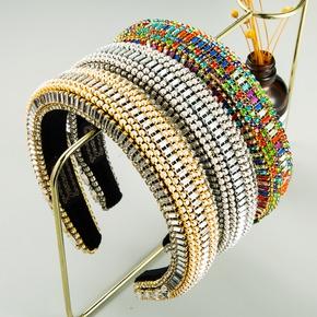 fashion baroque colored diamond headband  NHLN289248