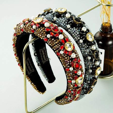 diadema de perlas con cuentas de cristal NHLN289251's discount tags