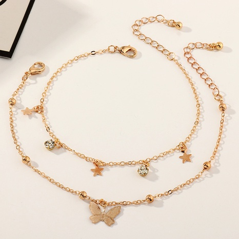 creative simple star butterfly anklet set NHNZ289266's discount tags