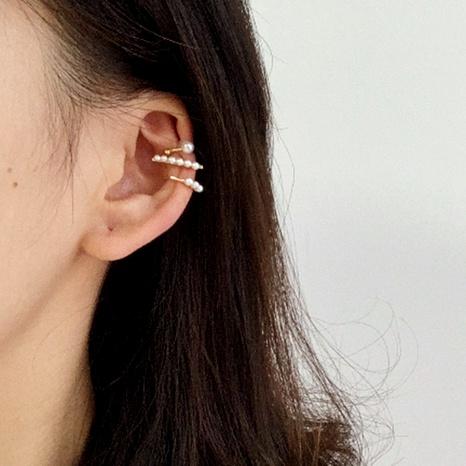 fashion small pearl ear clip NHNZ289276's discount tags