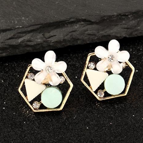 fashion flower zircon earrings NHNZ289284's discount tags