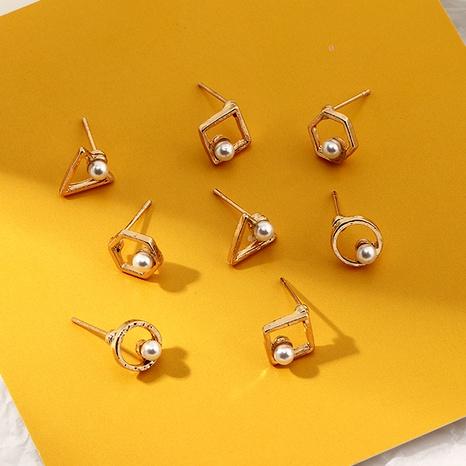 fashion triangle diamond earrings set NHNZ289286's discount tags