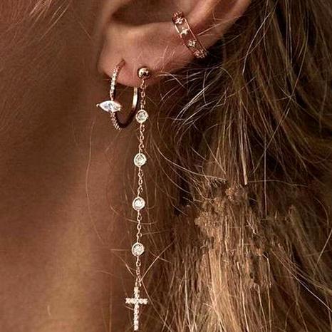fashion long tassel cross earrings NHNZ289289's discount tags