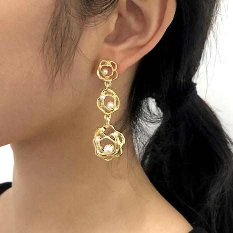 irregular imitation pearl earrings NHMD289297's discount tags
