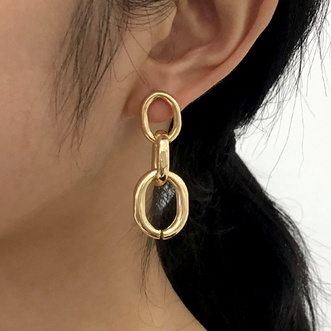 fashion simple retro metal earrings NHMD289302's discount tags