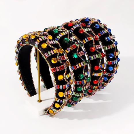 Baroque thick sponge fashion headband  NHMD289324's discount tags
