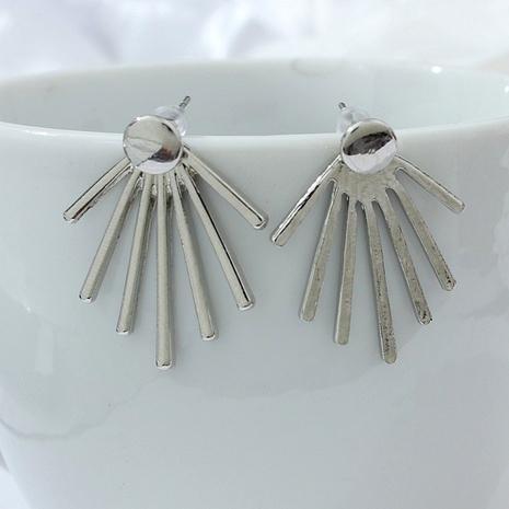 simple fan-shaped earrings NHPF289330's discount tags
