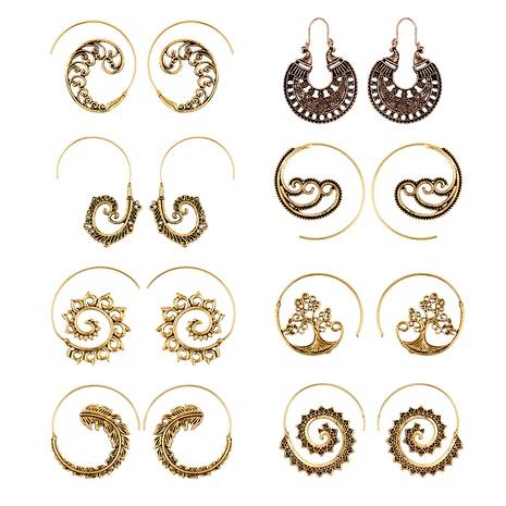 punk style circle spiral earring  NHAJ289402's discount tags