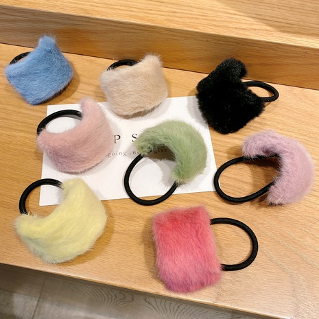 candy color imitation rabbit fur hair rope  NHCQ289409's discount tags