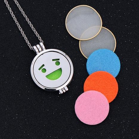 collar con colgante de emoji de hip hop NHAN289416's discount tags