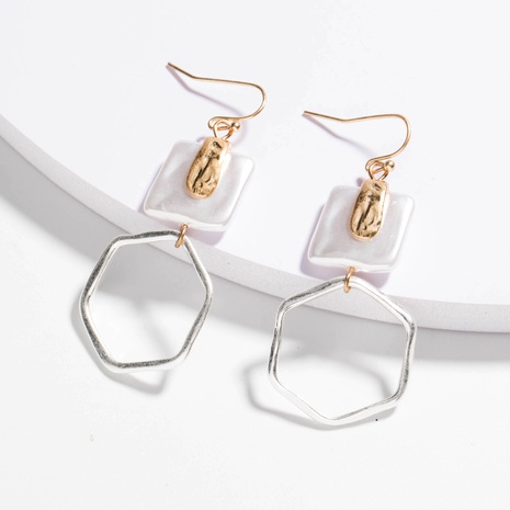 simple silver earrings NHAN289430's discount tags