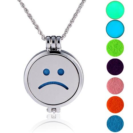 collar con colgante de cara sonriente de hip-hop NHAN289433's discount tags