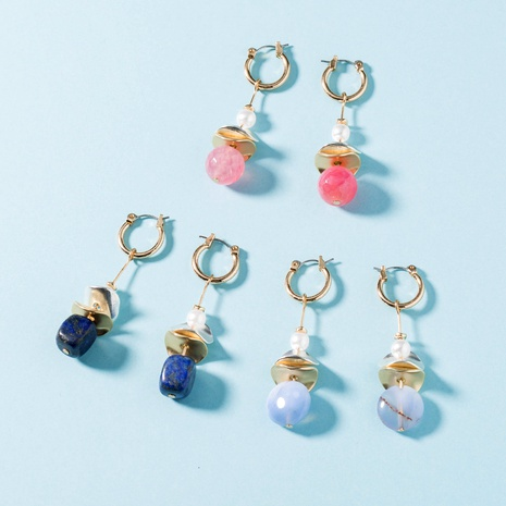 fashion simple natural stone earrings NHAN289454's discount tags
