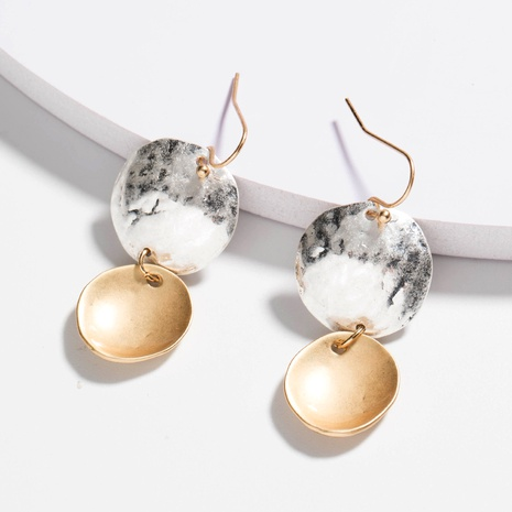 fashion irregular disc earrings NHAN289455's discount tags