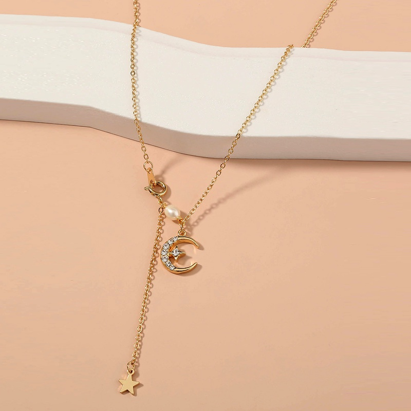 star and moon necklace NHAN289467