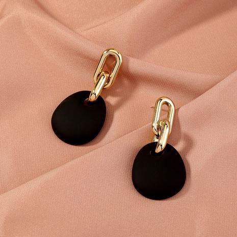 S925 Silver Needle Gold Tassel Earrings NHAN289477's discount tags