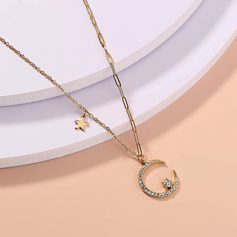 star and moon exquisite necklace  NHAN289482's discount tags