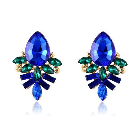 fashion golden gemstone earrings  NHPF289503's discount tags