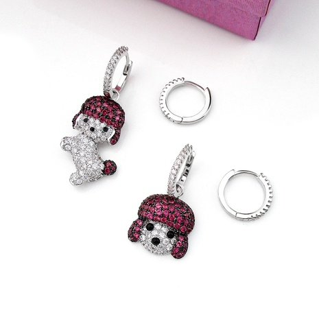 cute and interesting dog asymmetric earrings NHLJ289507's discount tags