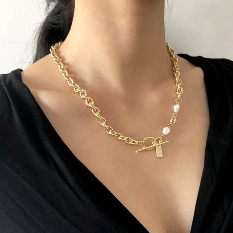 exquisite simple letter necklace  NHMD289310's discount tags