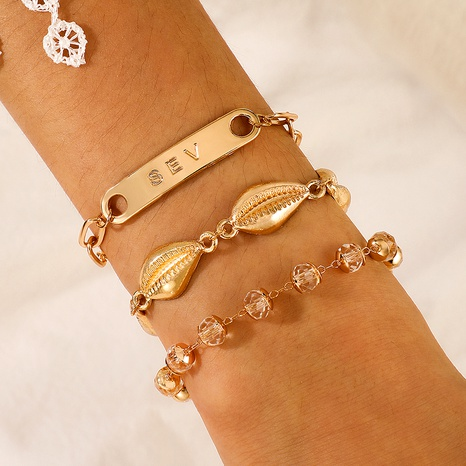 fashion exaggerated alloy shell bracelet  NHGY289353's discount tags