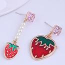 Boucles d39oreilles fraises simples  la mode corenne NHSC289975
