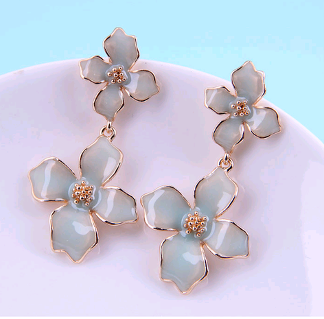 925 silver  korean fashion  flower exaggerated earrings NHSC289974's discount tags