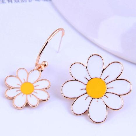 Korean Fashion  Daisy  Asymmetrical Stud Earrings NHSC289977's discount tags
