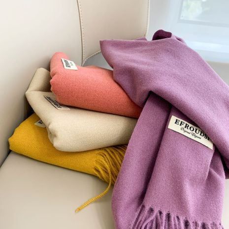 imitation cashmere solid color thickening scarf  NHCJ278113's discount tags