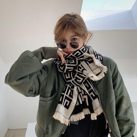 imitation cashmere autumn and winter British fashion long shawl NHCJ278114's discount tags