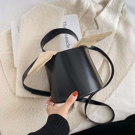 Simple bucket messenger retro shoulder bag NHRU278325's discount tags