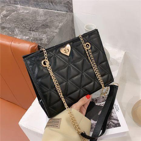 Simple fashion rhombus large-capacity messenger bag NHRU278340's discount tags
