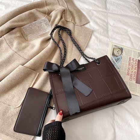 large-capacity one-shoulder messenger rhombus handbags NHLH278379's discount tags