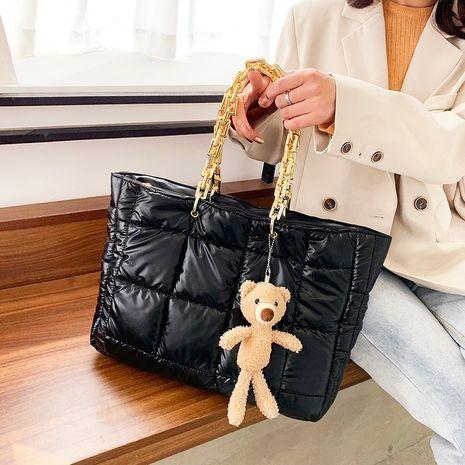 plaid one-shoulder fashion messenger lock bags NHLH278423's discount tags