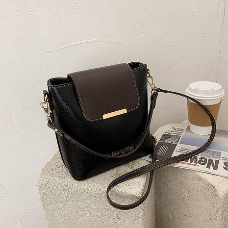 Fashion hit color bucket shoulder strap messenger bag NHJZ278468's discount tags