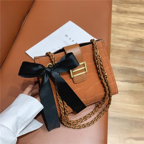 fashion Korean creasing shoulder diagonal PU bag NHJZ278483's discount tags