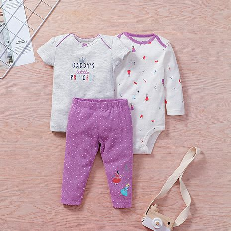 fashion three-piece baby short-length romper suit  NHLF278492's discount tags