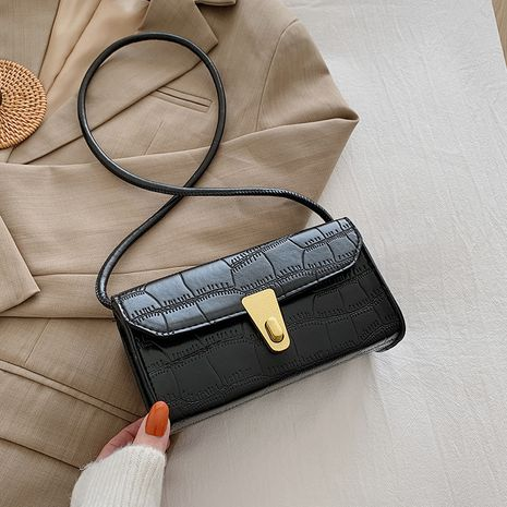 Retro texture new trendy fashion  single shoulder  square bag NHRU278651's discount tags