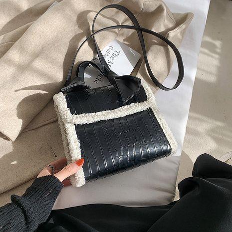 new trendy texture all-match shoulder bag  NHRU278654's discount tags