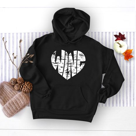 winter women's popular letter printed hooded sweater NHSN278683's discount tags