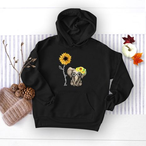winter women's popular elephant print hooded sweater NHSN278689's discount tags