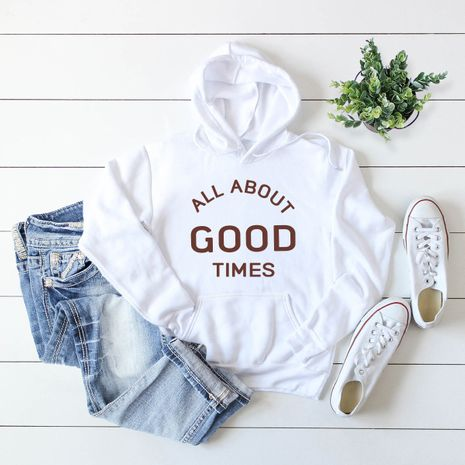 women's popular letter printed hooded sweater NHSN278696's discount tags