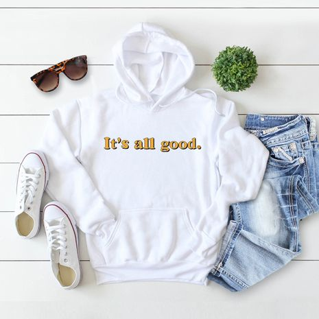 winter women's popular letter printed hooded sweater NHSN278697's discount tags